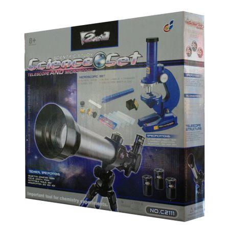 set pentru stiinta telescop si microscop