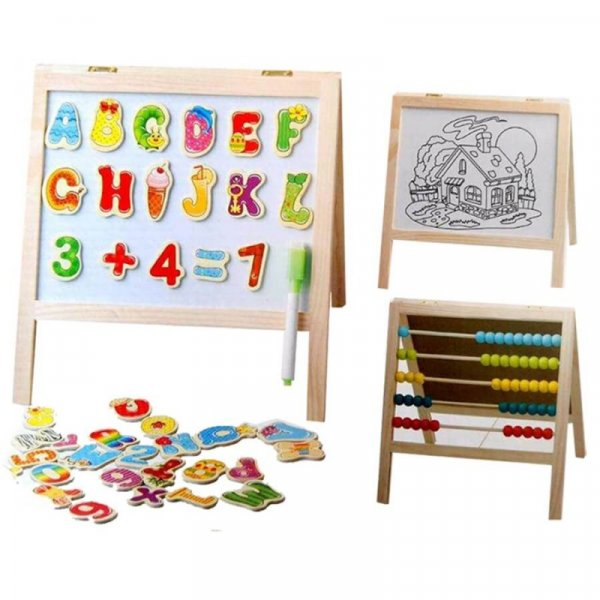 tablita magnetica multifunctionala cu litere si abac