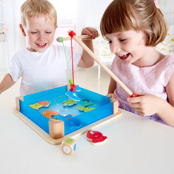 joc magnetic din lemn pescuit fishy