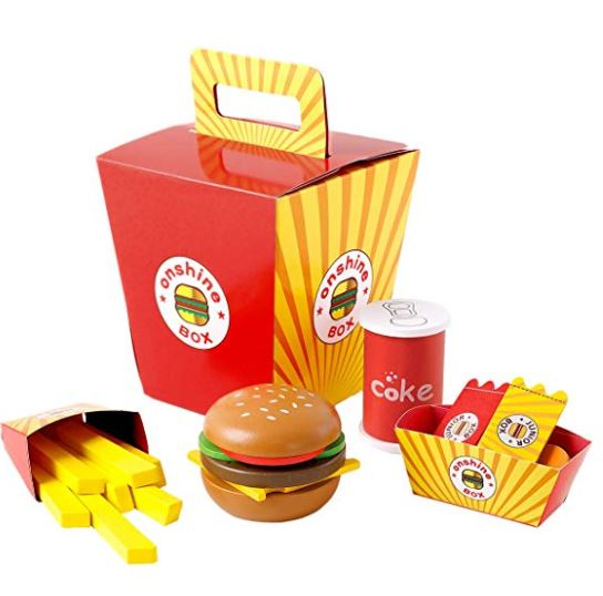 jucarie fast food hamburger din lemn 1