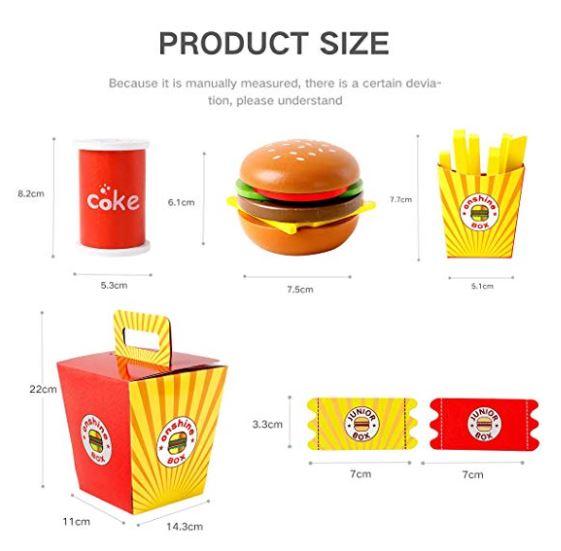 jucarie fast food hamburger din lemn 4