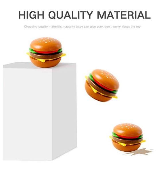 jucarie fast food hamburger din lemn 5