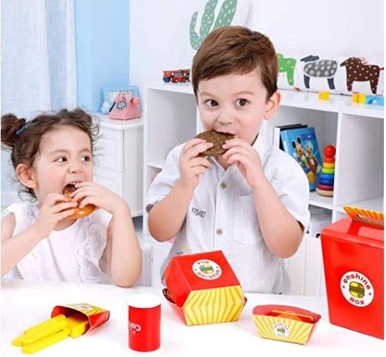 jucarie fast food hamburger