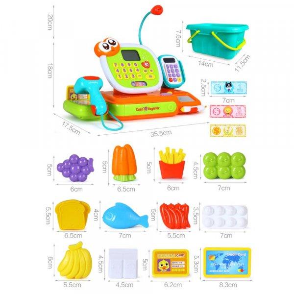 jucarie pentru copii casa de marcat cu accesorii 2