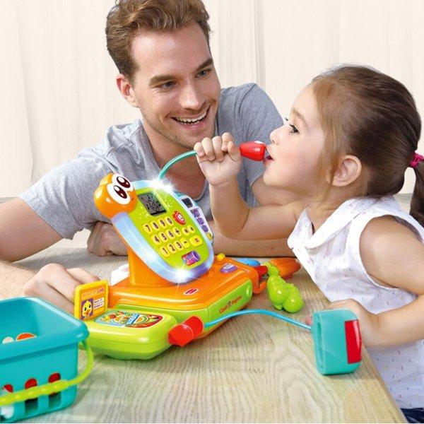 jucarie pentru copii casa de marcat cu accesorii 6