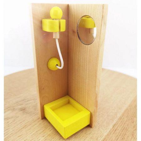 mobilier de jucarie din lemn baie 1