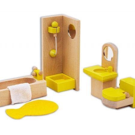 mobilier de jucarie din lemn baie 4
