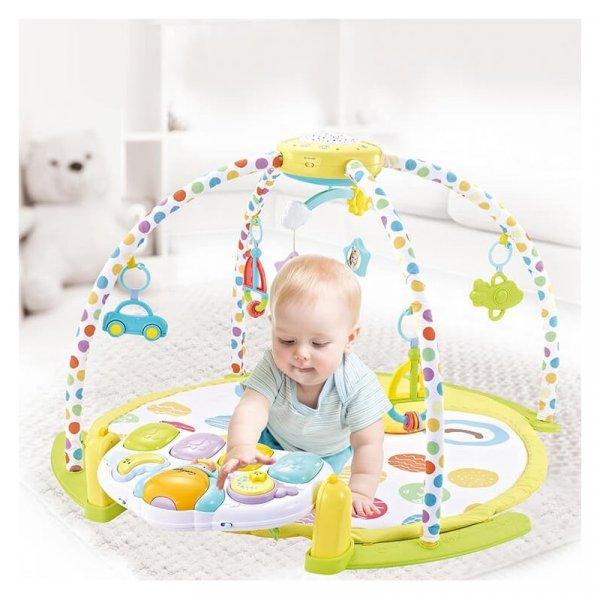 saltea activitati bebe cu pian carusel si proiector 1