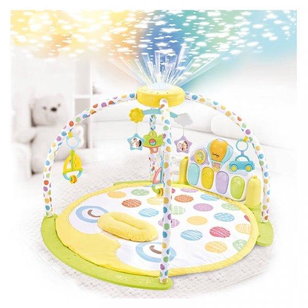 saltea activitati bebe cu pian carusel si proiector 2