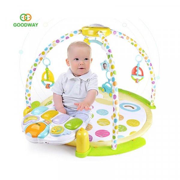 saltea activitati bebe cu pian carusel si proiector 3