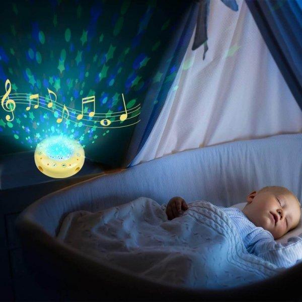 saltea activitati bebe cu pian carusel si proiector 4