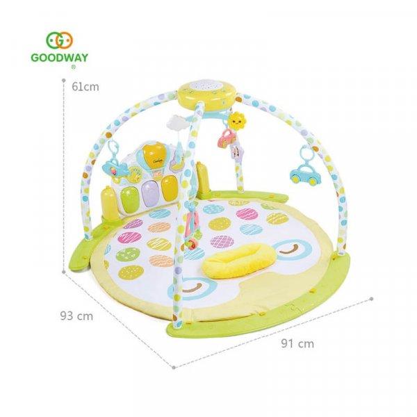 saltea activitati bebe cu pian carusel si proiector 5