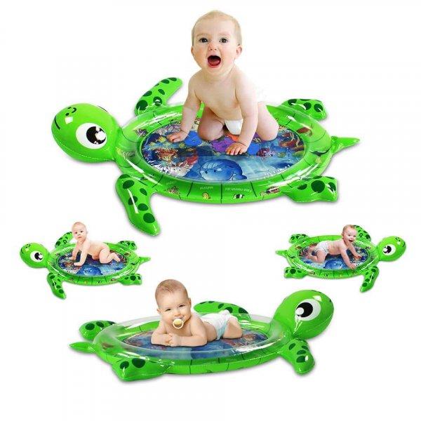 saltea de activitati cu apa broscuta verde
