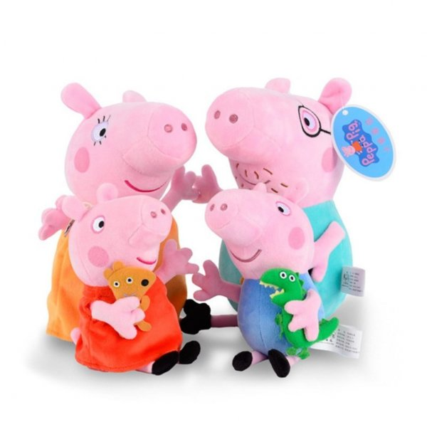 set 4 jucarii din plus familia peppa 2