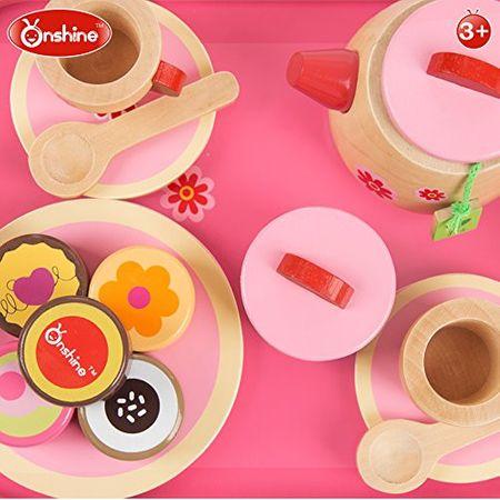 set de ceai din lemn onshine 18 piese 2