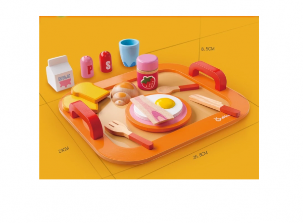 set mic dejun din lemn onshine 3
