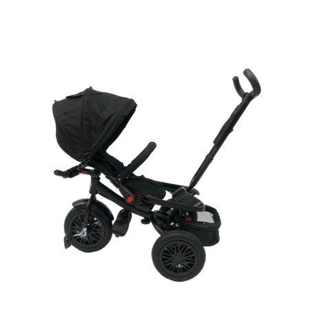 tricicleta cu scaun rotativ negru