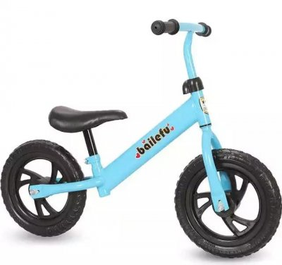 bicicleta fara pedale albastru
