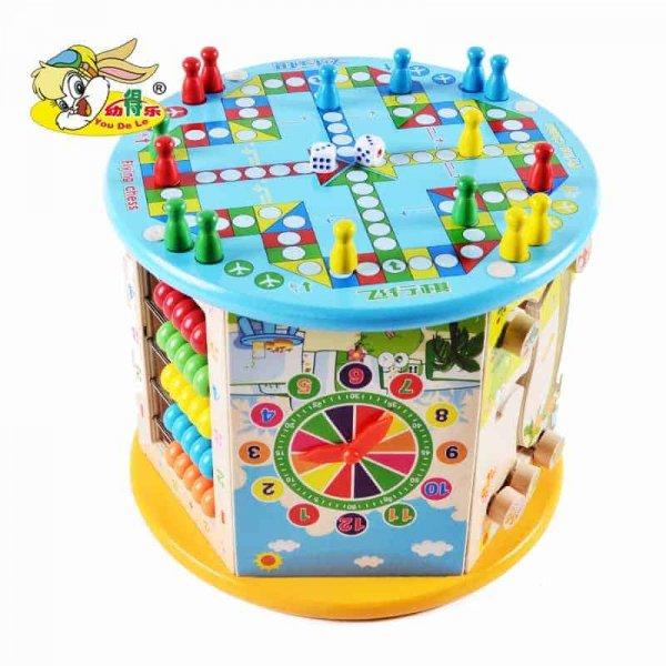 centru activitati multifunctional cu labirint motric happy frog 8 in 1 1