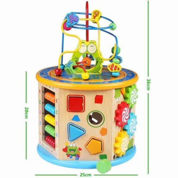 centru activitati multifunctional cu labirint motric happy frog3