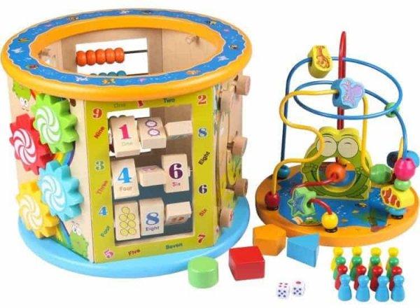 centru activitati multifunctional cu labirint motric happy frog4