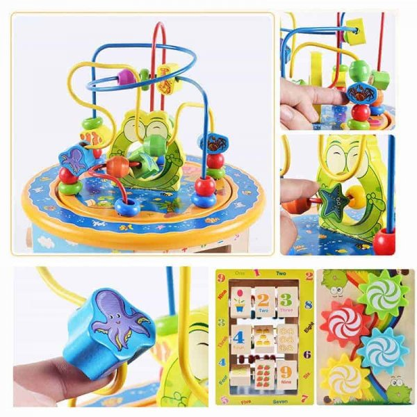 centru activitati multifunctional cu labirint motric happy frog5