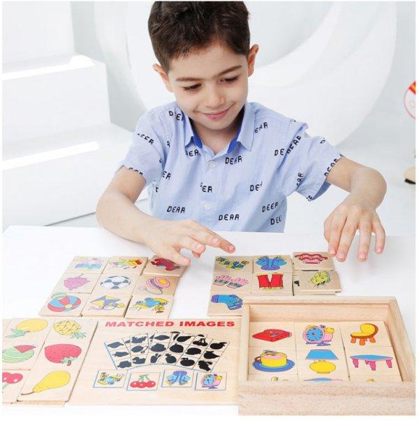 joc memorie din lemn