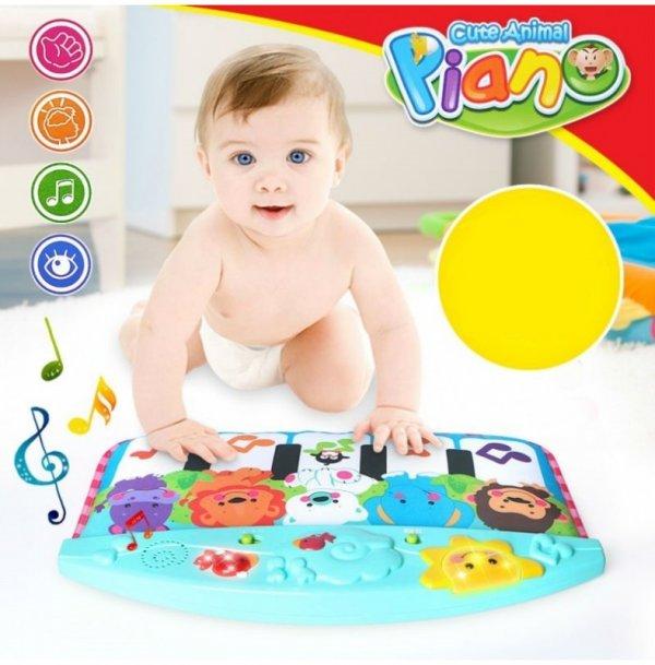 jucarie cu pian pentru patut bebe 3