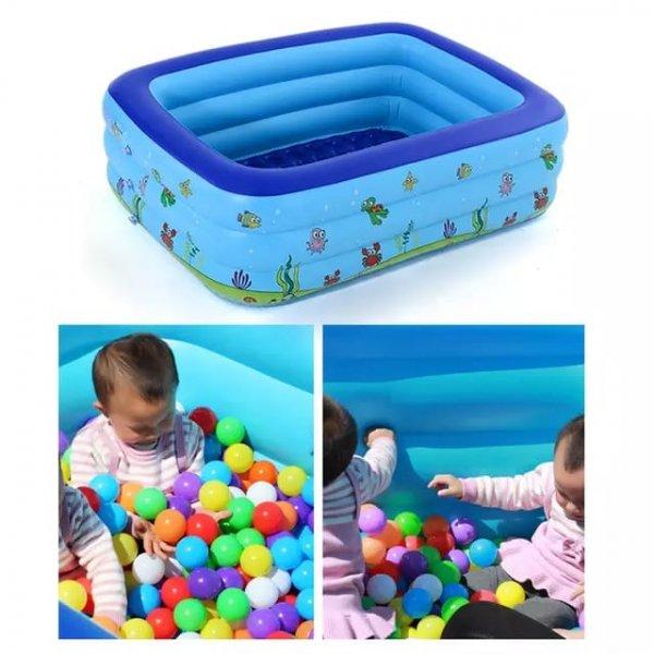 piscina fonflabila pentru copii cu podea moale 1
