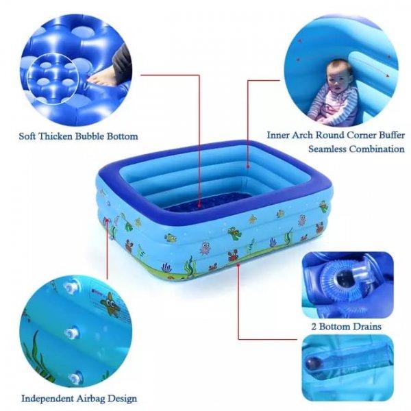piscina fonflabila pentru copii cu podea moale 4