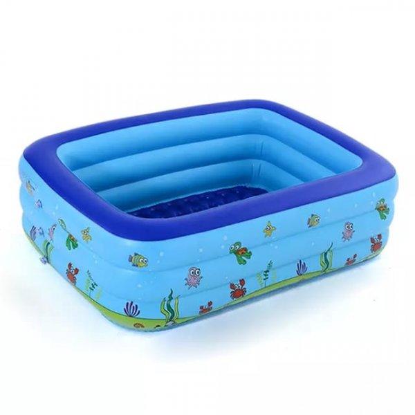 piscina fonflabila pentru copii cu podea moale