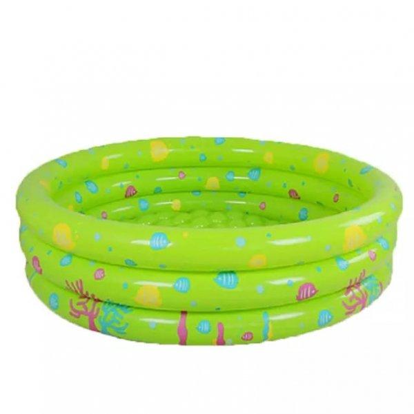 piscina gonflabila rotunda verde