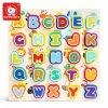 puzzle din lemn alfabet si animalute 3