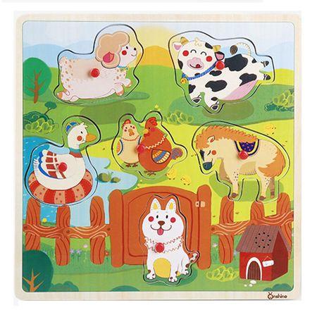 puzzle lemn animale domestice 1