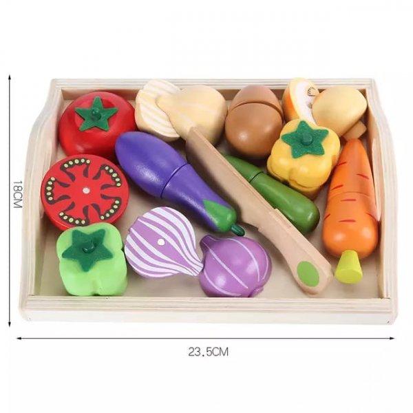 set 11 legume din lemn de feliat 1