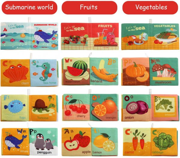 set 6 carti textile de baie educative bebelusi melody4