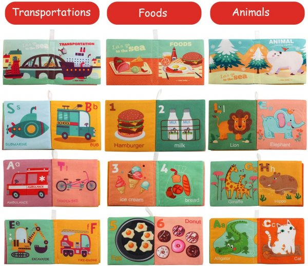 set 6 carti textile de baie educative bebelusi melody5
