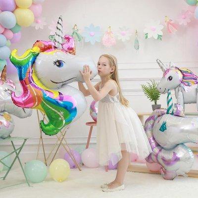 balon petrecere din folie unicorn