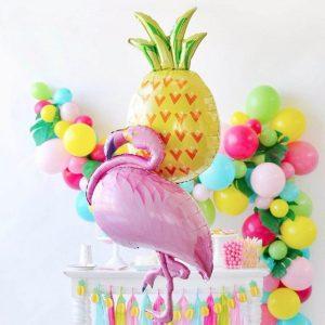 balon petrecere din folie flamingo