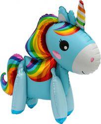 balon petrecere unicorn albastru