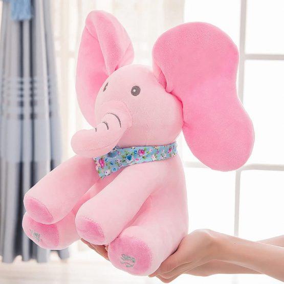 elefant interactiv din plush cucubau roz