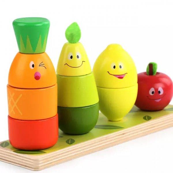 joc de stivuit din lemn fructe si legume 2