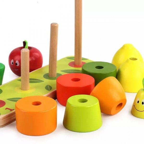 joc de stivuit din lemn fructe si legume 3