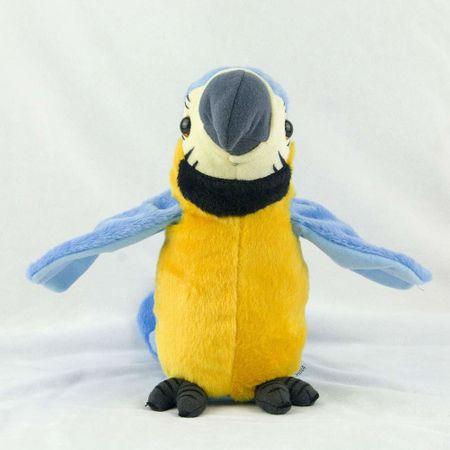 papagal de jucarie vorbitor albastru 1