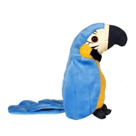 papagal de jucarie vorbitor albastru 2