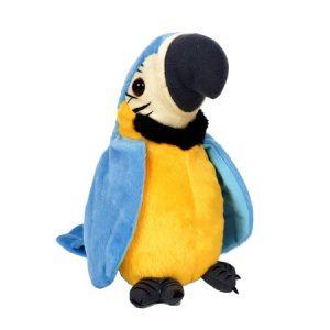papagal de jucarie vorbitor albastru