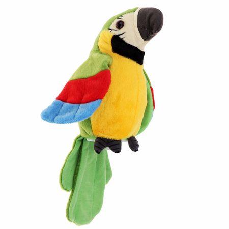papagal de jucarie vorbitor verde 1
