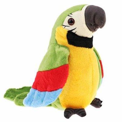 papagal de jucarie verde