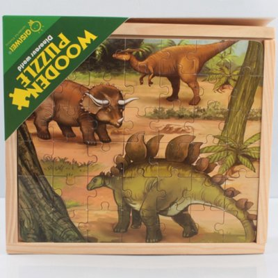 puzzle 3in1 dinozauri
