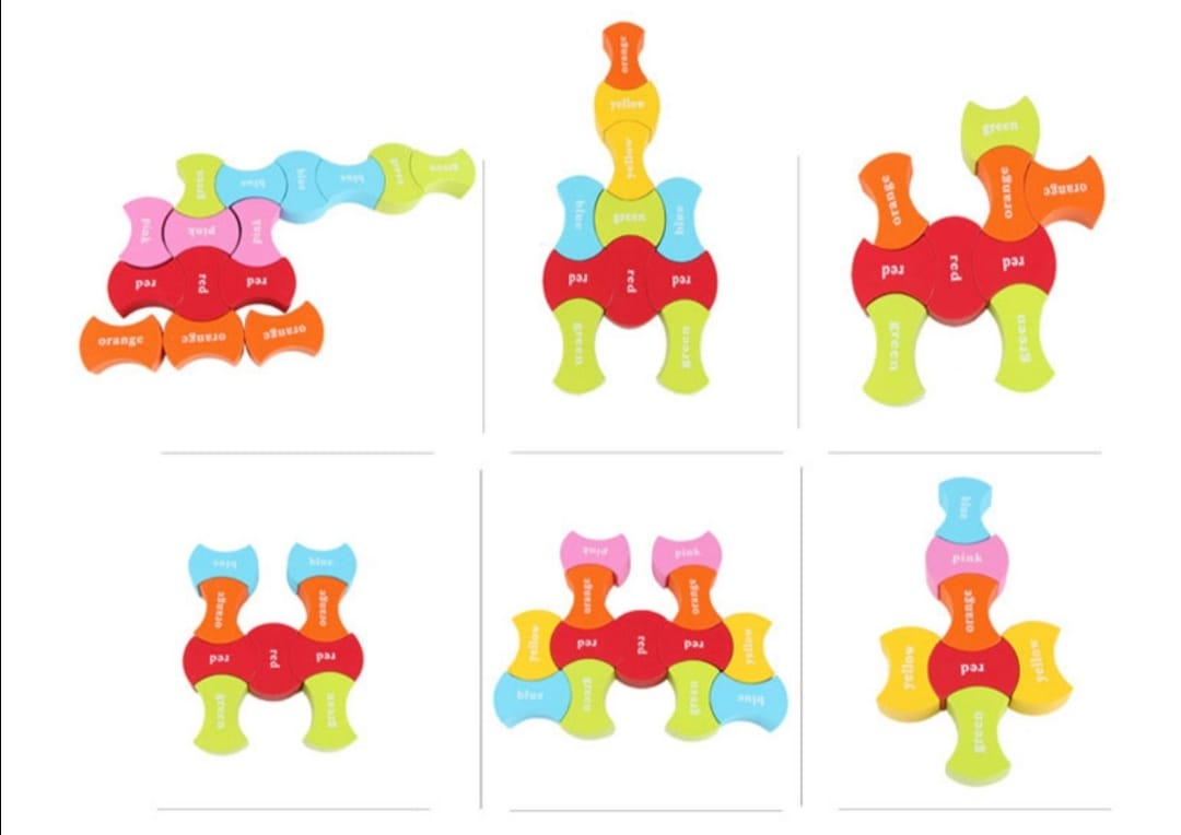 puzzle din lemn montessori invatam culorile 5